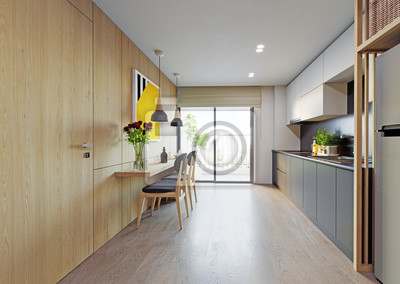 Fototapeta modern kitchen interior.