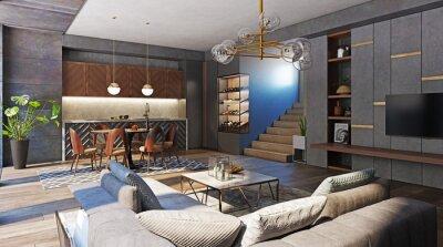 Fototapeta modern living interior