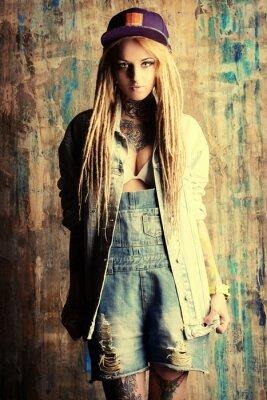 Fototapeta modne dżinsy