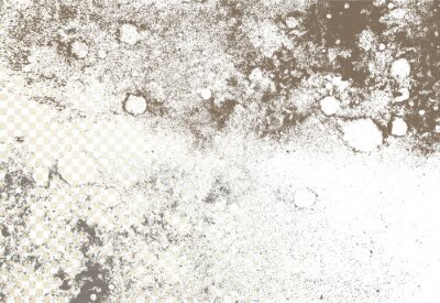 Fototapeta Mold, mildew, decay, stains, splashes, explosion. On an isolated background. Trail of grunge blots and splashes. Vector pattern of natural origin.