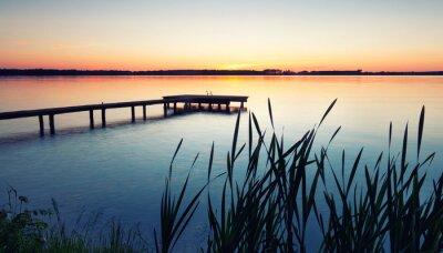 Fototapeta Molo na jeziorze