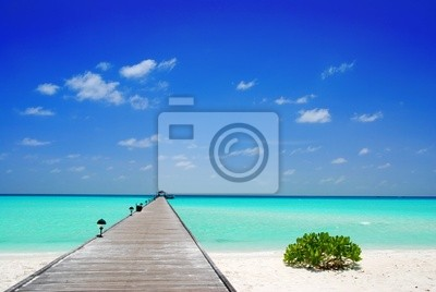 Fototapeta Molo na Malediwach