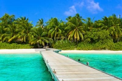 Fototapeta Molo, plaża i dżungla - tło wakacje