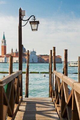 Fototapeta Molo w Canal Grande w Wenecji