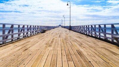 Fototapeta Molo w lecie Słońca Zabytkowe Shorncliffe Pier zbudowany w +1.884-cia