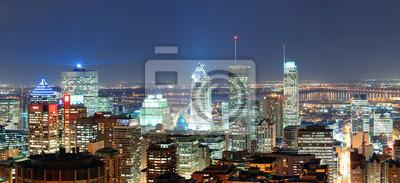 Montreal panoramę na zmierzchu