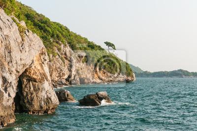 morze i góry na Sichang wyspy, Tajlandia