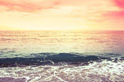 Fototapeta Morze i niebo w kolorze filterred rocznika