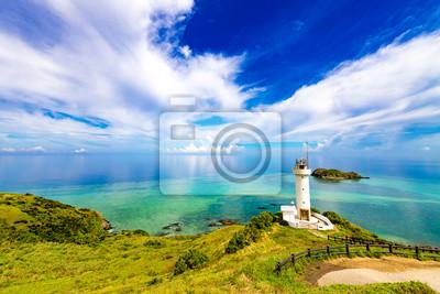 Fototapeta Morze, Latarnia morska, krajobraz. Okinawa, Japonia, Azja.