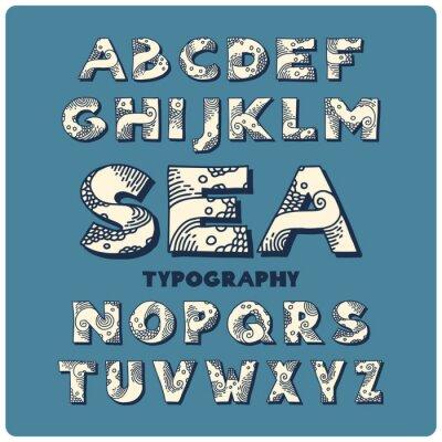 Fototapeta Morze wyciągnąć rękę styl czcionki