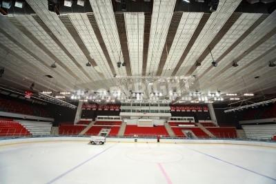 Fototapeta MOSKWA - 20 lutego: Stadion na mecz hokejowy