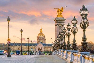 Fototapeta Most Aleksandra III przez Sekwanę w Paryżu