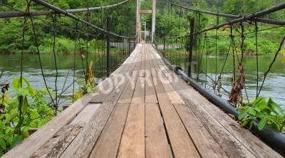 Fototapeta Most do dżungli, Tajlandii Kwa rzeki