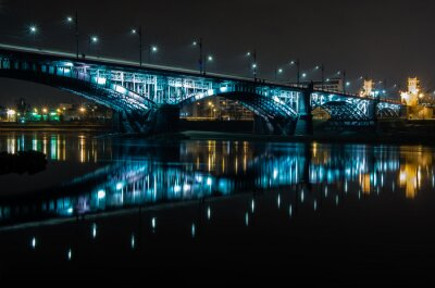 Fototapeta Most Poniatowskiego, Warszawa. Polska