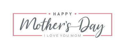 Fototapeta Mother day. Happy Mother's Day. Mother day poster. Vector illustration for women's day, shop, discount, sale, flyer, decoration. Lettering style.
