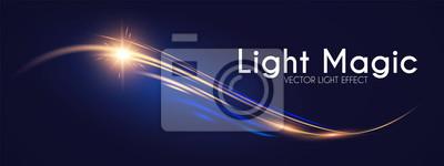 Fototapeta Motion Light Effect. Shining Wave. Glow Design Element.