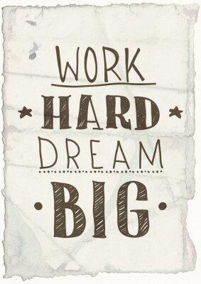 Fototapeta Motivational grange poster