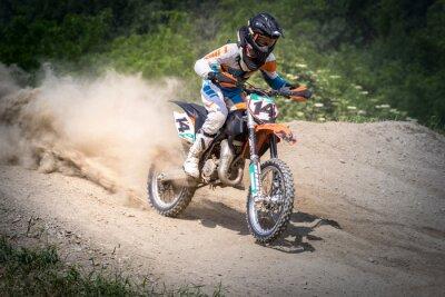 Fototapeta moto cross jak w Azione