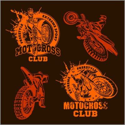 Fototapeta Motocross godło sportu