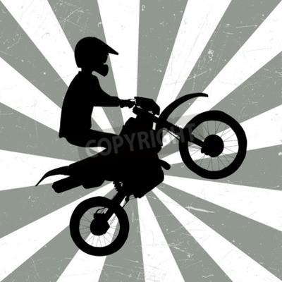 Fototapeta Motocross retro ilustracji