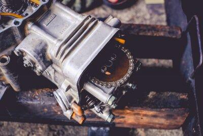 Fototapeta Motorcycle engine  small motorcycle  maintenance.