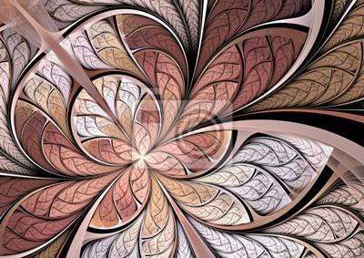 Motyl na kwiat. Artystyczne tło w delikatnych barwach różu. Dobra ozdoba pulpitową, wnętrze, okładka albumu. sztuka fraktalna