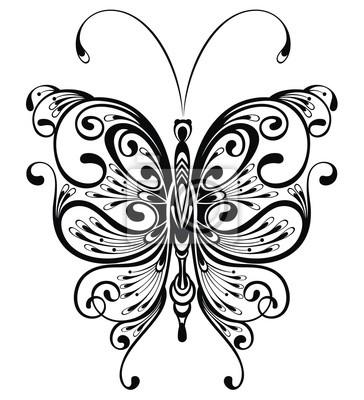 Motyl Wzór Tatuażu Fototapety Redro