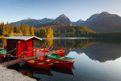 Fototapeta Mountain Lake na Słowacji Tatry - Szczyrbskie Pleso