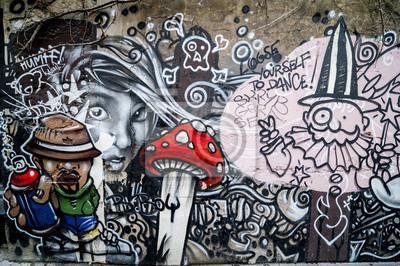 Fototapeta Mur de graffiti,