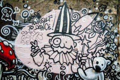 Fototapeta Mur de graffiti, magicien