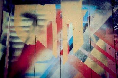 Fototapeta Mur de graffiti, projekt