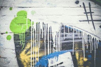Fototapeta Mur de graffiti, taches