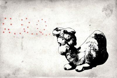 Fototapeta Mural projektu pomysł zabawa ściana sztuka