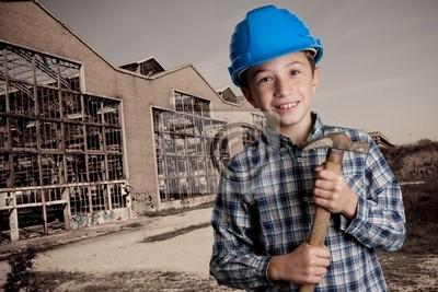 Fototapeta Muratore - demolition boy