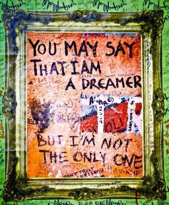 Fototapeta Muro de John Lennon - Dreamer (Praga) Toma 2