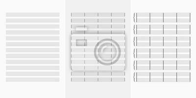 Fototapeta Music note book blank sheet .