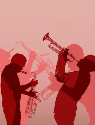 Fototapeta muzyk jazzowy mosiądz