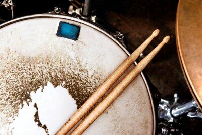 Fototapeta Muzyka background.Drum bliska obraz.