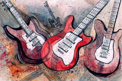 Fototapeta muzyka gitarowa