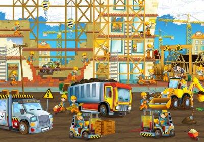 Fototapeta Na placu budowy - ilustracji dla dzieci
