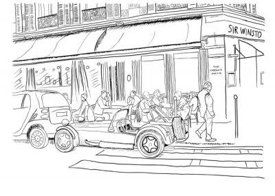 Fototapeta Na ulicach Paryża
