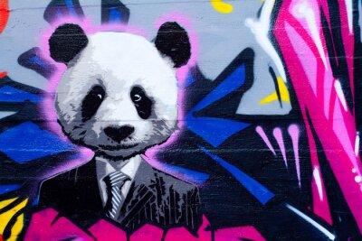 Fototapeta Nadająca panda