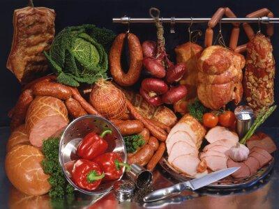 Fototapeta Nadal mięso i kiełbasy