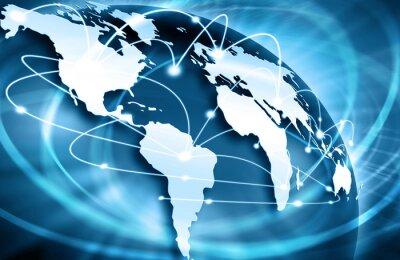Fototapeta Najlepsza Koncepcja Internet globalnego biznesu z serii koncepcje