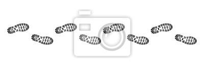 Fototapeta Nakładki wydrukować profil, wektor, czarny odizolowane,