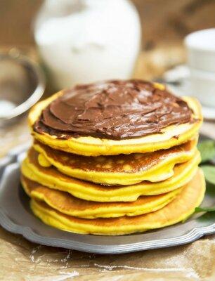 Fototapeta Naleśniki z kremem czekoladowym