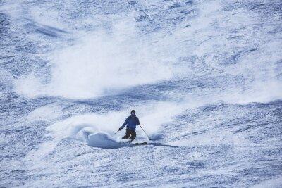 Fototapeta narciarz