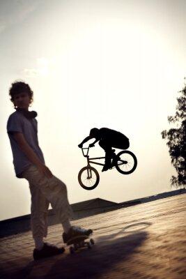 Fototapeta nastolatka na rowerze