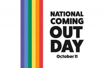 Fototapeta National Coming Out Day. October 11. Holiday concept. Template for background, banner, card, poster with text inscription. Vector EPS10 illustration.