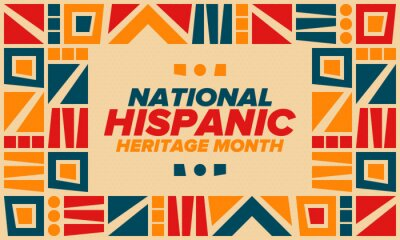 Fototapeta National Hispanic Heritage Month in September and October. Hispanic and Latino Americans culture. Celebrate annual in United States. Poster, card, banner and background. Vector illustration